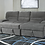 Thumbnail: (For Order Only) Yantis - Gray - LAF Sleeper Sectional with Storage