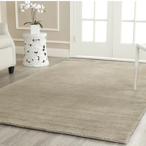 Square 6' Bargo Hand-Loomed Wool Gray Area Rug