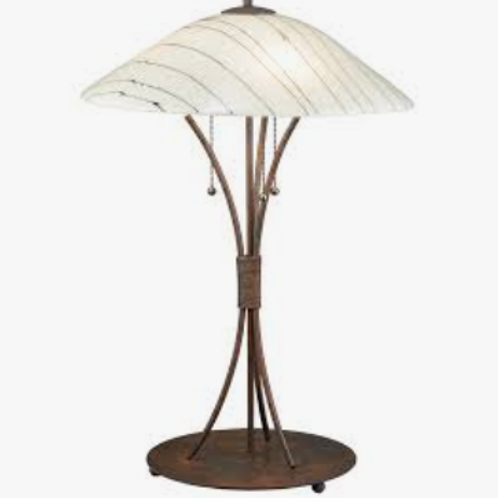 "Metro Fusion Tiffany Branches 26.5"" Table Lamp"