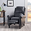 Thumbnail: (See Note) Haddan Faux Leather Recliner Club Chair Black