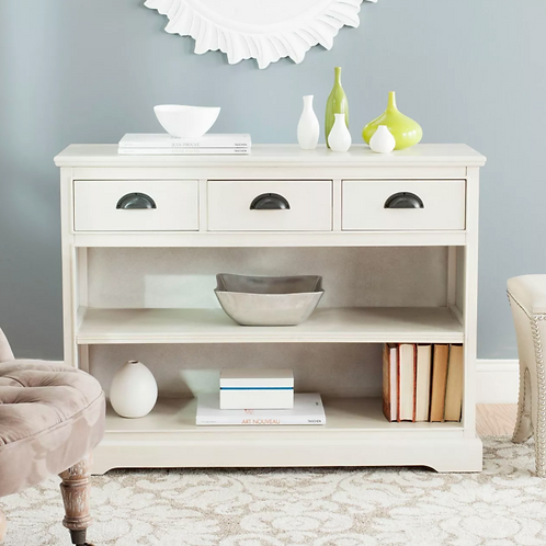 Prudence Bookcase White - Safavieh