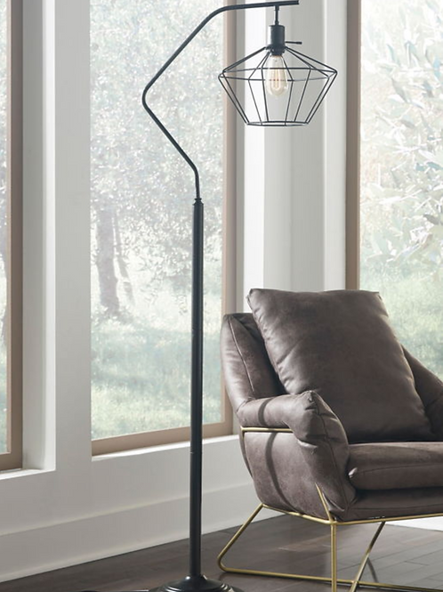 Makeika - Black - Metal Floor Lamp (1/CN)