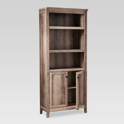 "72"" Carson 5 Shelf Bookcase with Doors"