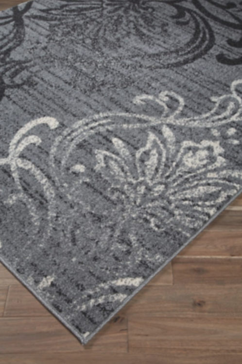 8x10 Verrill - Gray/Black - Large Rug