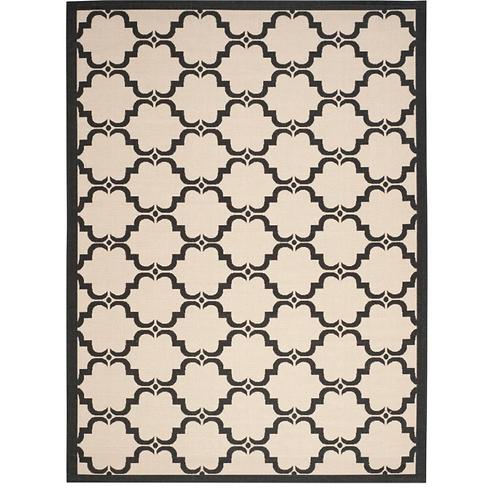 8' x 11' Pogue Geometric Beige/Black Indoor / Outdoor Area Rug