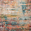 Thumbnail: Round 3' Muhan Abstract Teal/Orange Area Rug