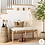 Thumbnail: Emery Wood and Upholstered Bench with Straps Natural