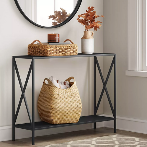 Elroy X Sided Console Table Black