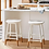 Thumbnail: Haddonfield Painted Wood Counter Height Barstool White