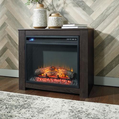 Harlinton - Black - Fireplace Mantel w/FRPL Insert