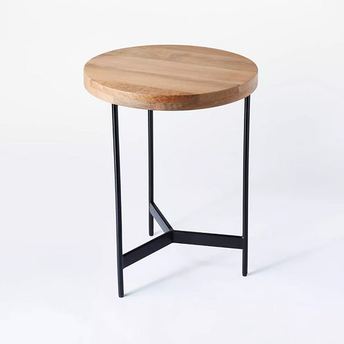 Villa Park Round Wooden Fully Assembled End Table Brown