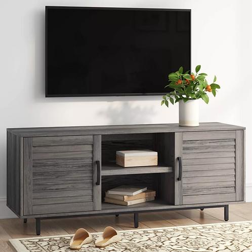 "55"" Storage TV Stand Gray"