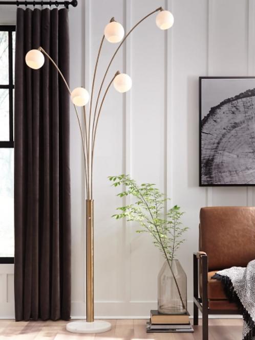 Taliya - Champagne/White - Metal Arc Lamp