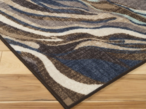Jochebed - Blue/Brown - Medium Rug 5 X 8