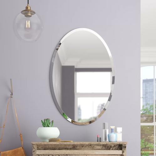 Thornbury Oval Bevel Frameless Wall Mirror