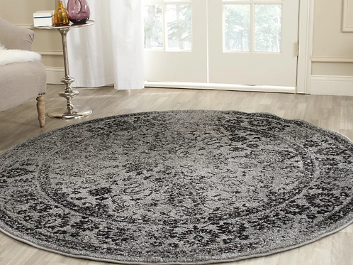 Round 10' Howser Gray/Black Area Rug