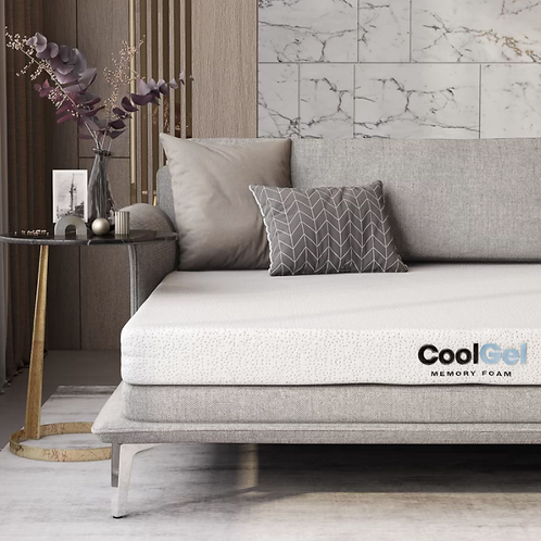 "Oneal Cool Gel Two-Sided 4.5"" Plush Gel Memory Foam Mattress - QUEEN"