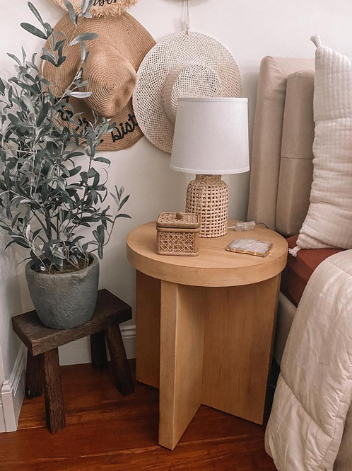 Bluff Park Round Wood Accent Table Natural