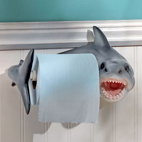 Shark Attack Wall Mount Toilet Paper Holder