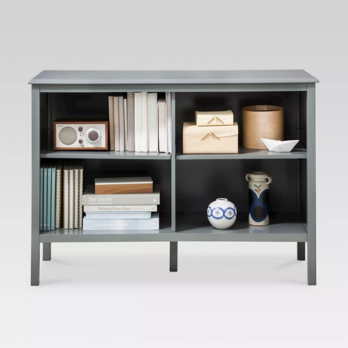"Windham 31.3"" Horizontal Bookcase - Gray"
