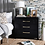 Thumbnail: Raina 3 Drawer Chest Black/Gold