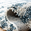 "Thumbnail: 2'3"" x 8' Mckinnon Abstract Ivory/Slate Blue Area Runner"