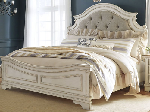 Realyn - Chipped White - Full UPH Bed (Order Only)