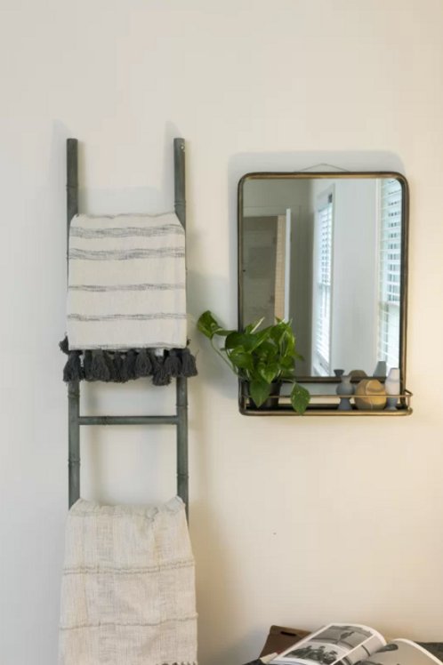 Peetz Accent Mirror with Shelves