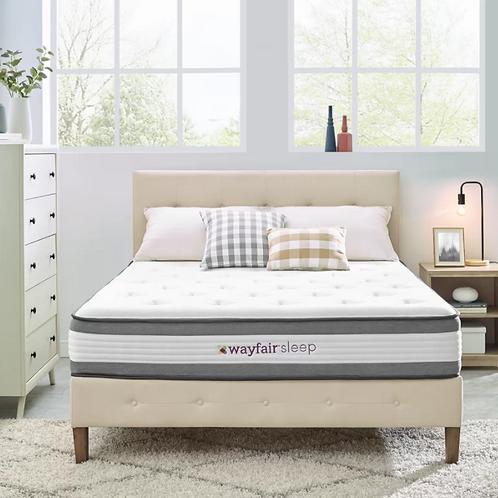 """Wayfair Sleep 10.5"""" Plush Hybrid Mattress - Queen"""