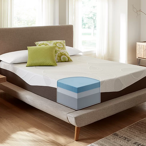 "12"" Firm Gel Memory Foam Mattress - QUEEN"