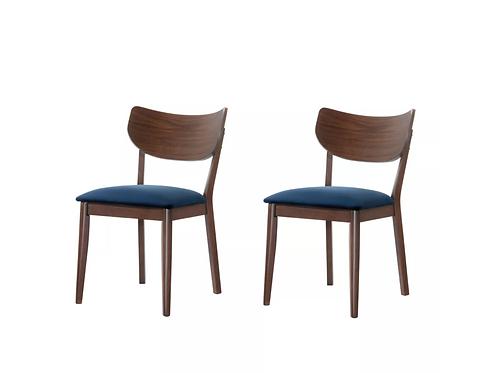 Rosie Side Chair Set of 2 Navy Blue