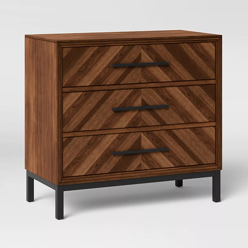 Rochester Parquet 3 Drawer Dresser Brown