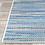 "Thumbnail: 2'3"" x 11'9"" Jasmine Estates Striped Sand/Turquoise Indoor/Outdoor Area Rug"