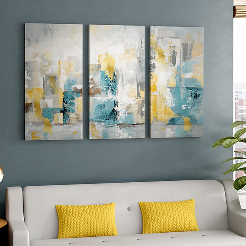 City Views I' Multi-Piece Image on Wrapped Canvas