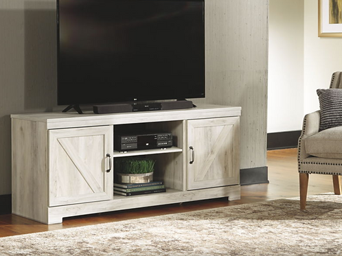 Bellaby - Whitewash - LG TV Stand w/Fireplace Option (order only)
