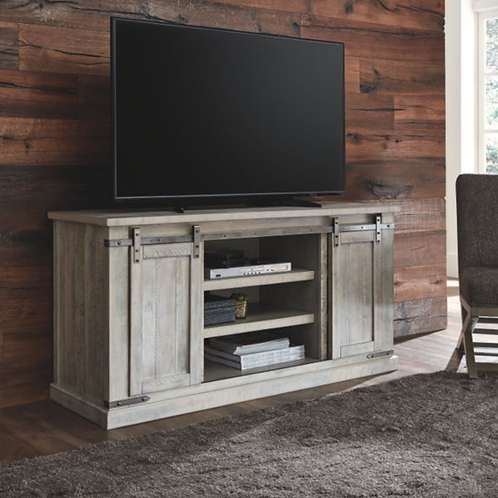 Carynhurst - Whitewash - Large TV Stand