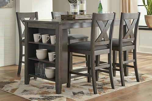 Caitbrook Dining Room Counter Table and Stools