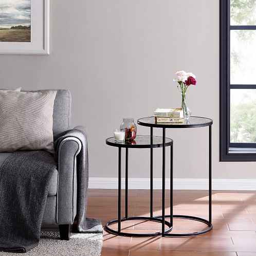 Set of 2 Alcovy Metal Nesting Accent Tables