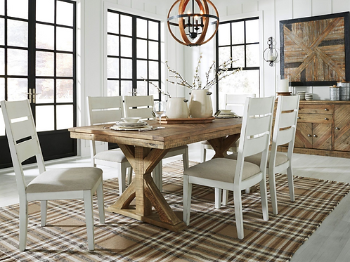 7 pc Grindleburg Rectangle Dining Table (Order Only)
