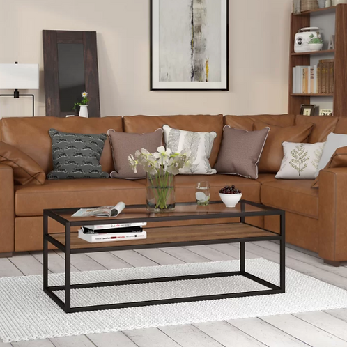 Frame Coffee Table with Storage