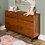 Thumbnail: Mid-Century Modern Classic Wood 6 Drawer Groove Dresser Caramel - Saracina Home