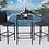 Thumbnail: Hadlee 3 Piece Bar Height Dining Set