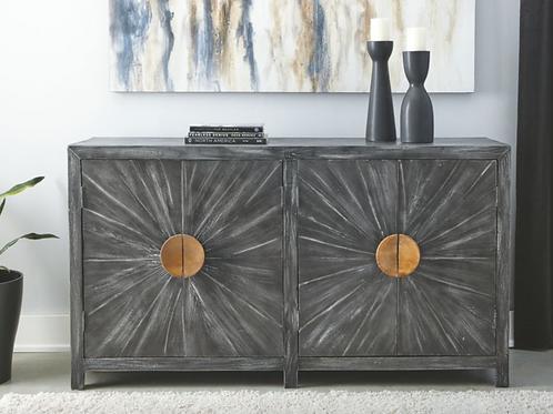 (Order Only) Kademore - Antique Black - Accent Cabinet