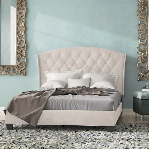 (See Note) Waddington Tufted Upholstered Platform Bed -Queen