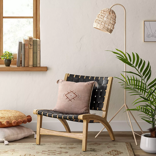 Ceylon Woven Accent Chair Black