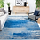 Thumbnail: 8' x 10' Costa Mesa Abstract Silver/Blue Area Rug