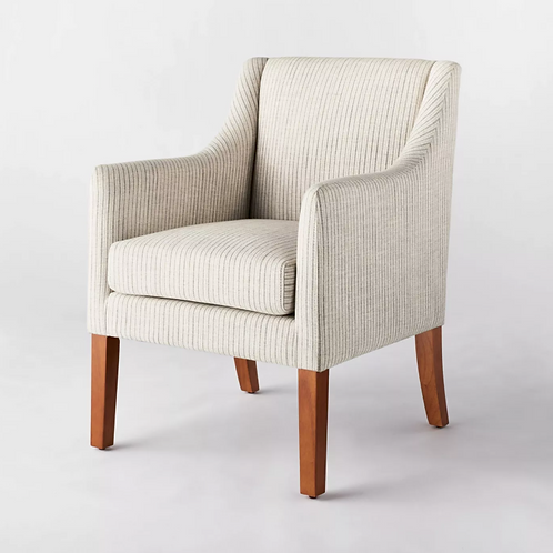 Clearfield Swoop Arm Dining Chair Cream Striped
