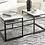Thumbnail: Donnesta - Gray/Black 3 pc table set