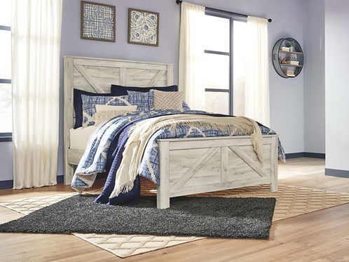 Bellaby - Whitewash - Queen Panel Bed