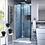 "Thumbnail: Aqua Fold 13.75"" W x 72"" H Pivot Semi-Frameless Shower Door"